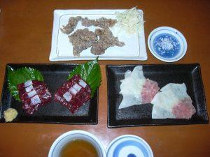 Tatsuta-Age, Sashimi, and Bacon